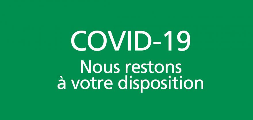 COVID-19 - Profelia reste là pour vous
